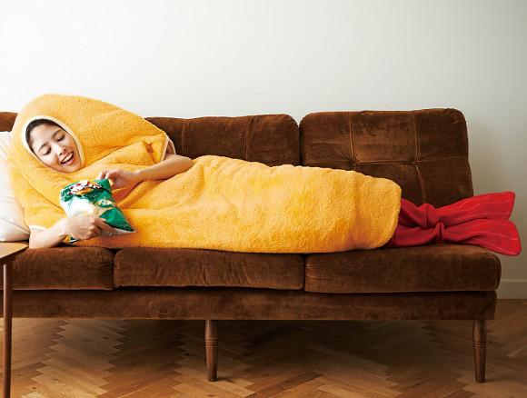 ¡Vaguea por casa con estilo con este saco de dormir de tempura!